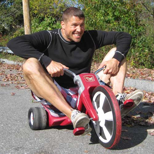 Tyson on a tricycle